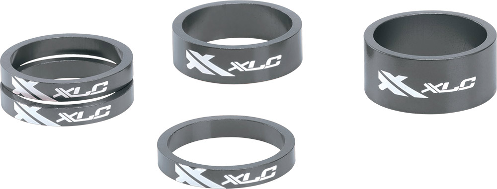 XLC Spacer Set 1 1/8 Alu - Titanium Grijs