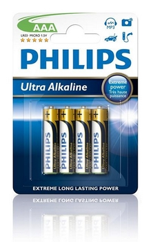 Philips Extremelife Potlood LR03 1,5V AAA (4)