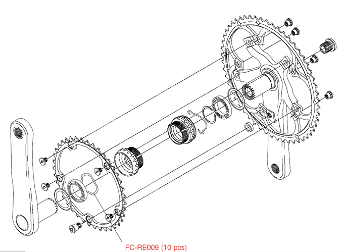 Campagnolo Opvulspacer t.b.v. Trapas FC-RE009 (10)