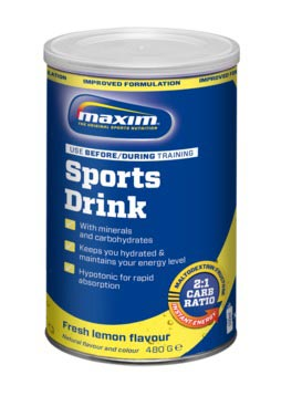 Maxim Sportdrankpoeder Fresh Lemon in Pot 480g