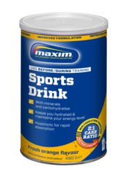 Maxim Sportdrank poeder Fresh Orange - Pot 480g