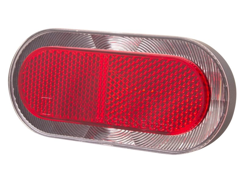 Spanninga Elips XDS Achterlicht LED Dynamo 80mm - Rood