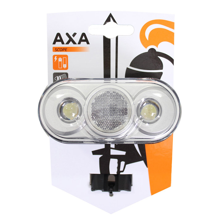 Axa Koplamp Scope LED Batterij - Zwart