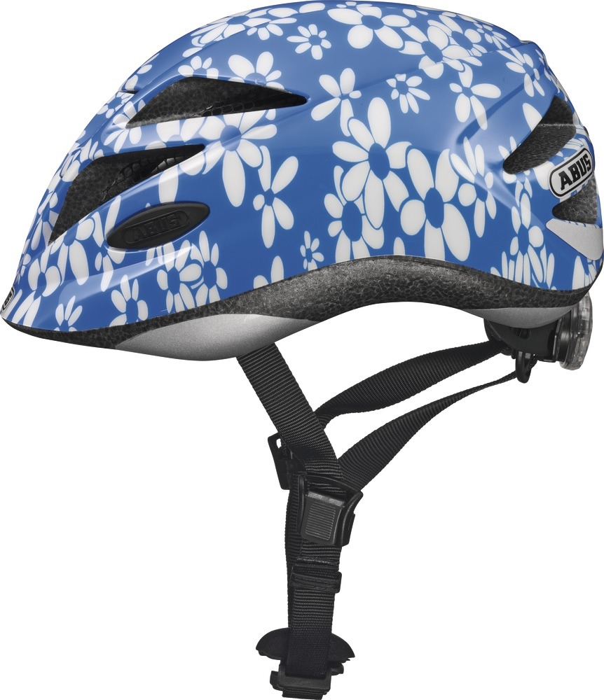 Abus Fietshelm Hubble Blue Flower M 58665