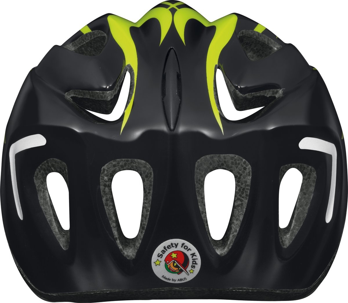 Abus Kinderhelm Super Chilly X-flame Geel maat S 46-52cm
