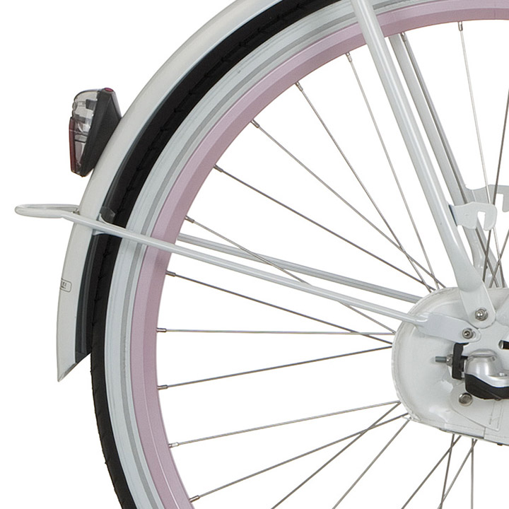 Cortina Spatbordstang Achter 26 Inch - Wit