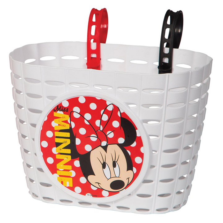 Widek Fietsmand Minnie Mouse PVC - Wit