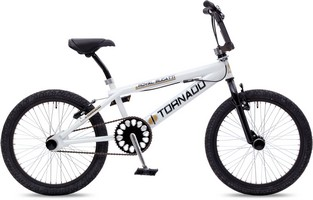 Tornado BMX Royal Bugatti 20 Inch Freestyle - Wit/Zwart