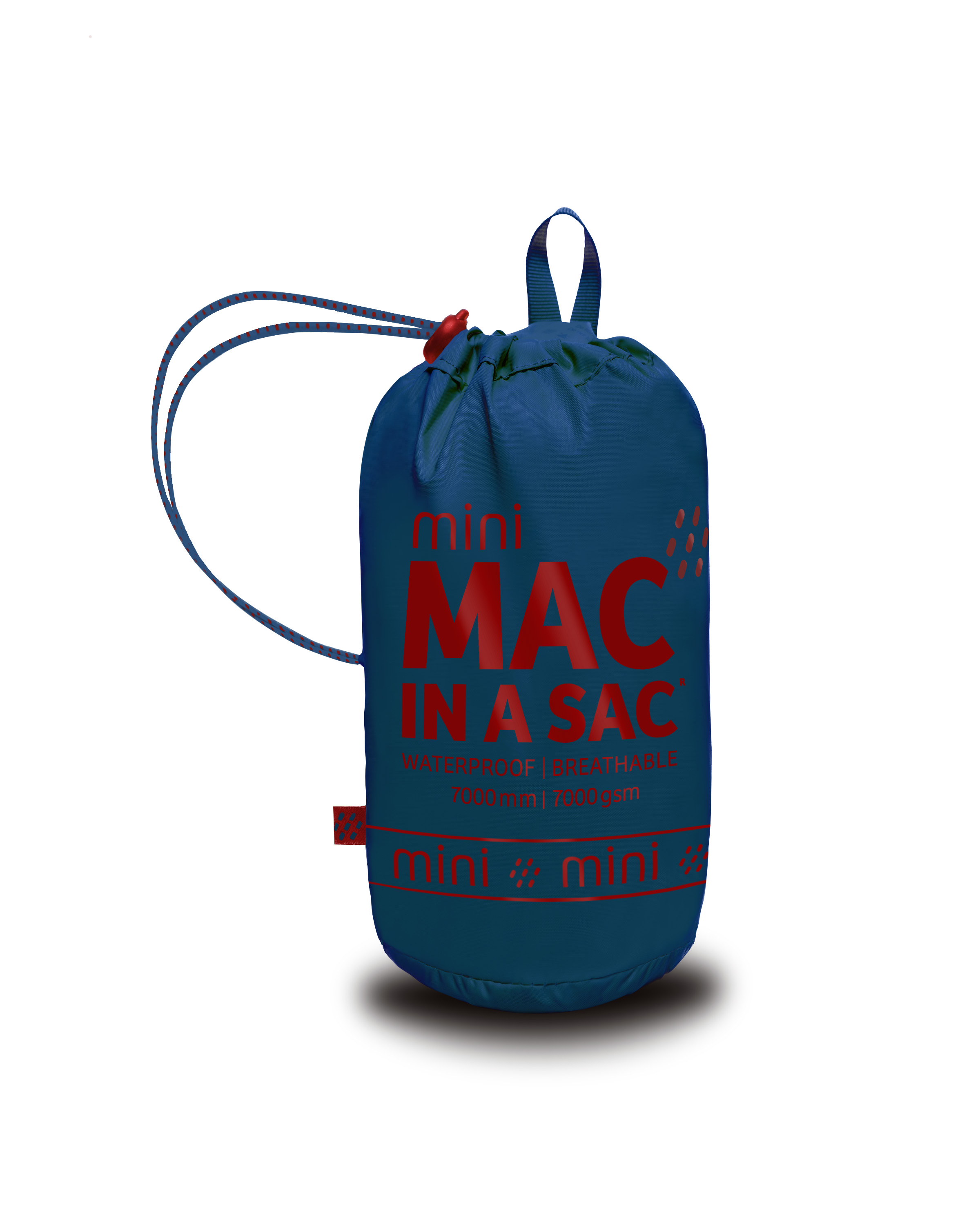 Mac in a Sac Regenjas Electric Blue - Maat XXL