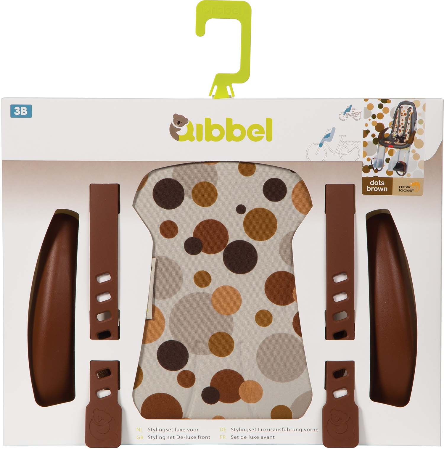 Qibbel Stylingset Luxe Dots Bruin t.b.v. Voorzitje