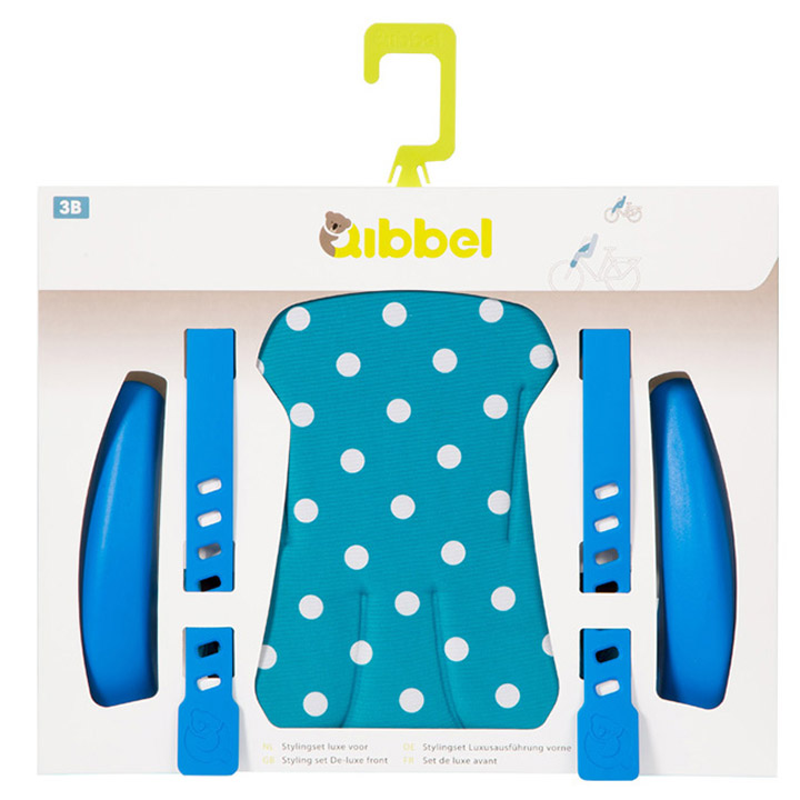 Qibbel Stylingset Voorzitje Luxe Polka Dot Blauw