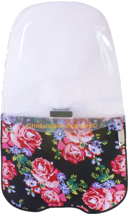 Qibbel windscherm blossom roses black compleet