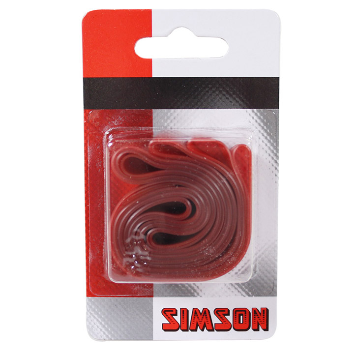 Simson Velglint 22mm 26/28 Inch Breed PVC Rood