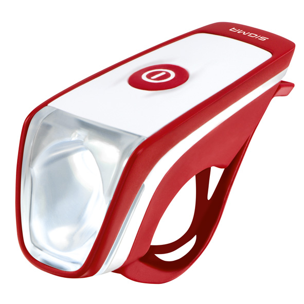 Sigma Koplamp Siggi Led Usb Rood/Wit Batterijen