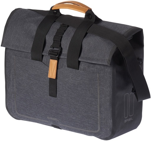 Basil Urban Dry Business Schoudertas - Charcoal Melee 20L
