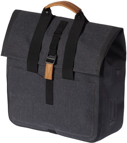 Basil Urban Dry Shoppertas - Charcoal Melee 20L