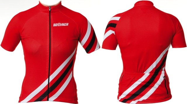 BioRacer Fietsshirt KM Cycling Shirt Dames Rood/Wit - XL
