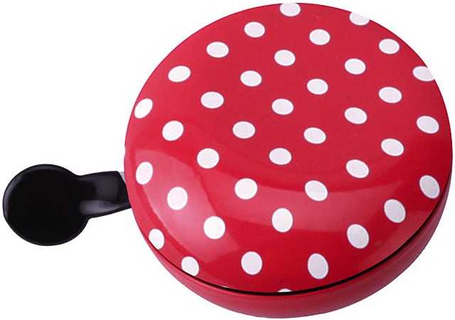 Brave Fietsbel Ding Dong Dots Ø80mm Staal - Rood