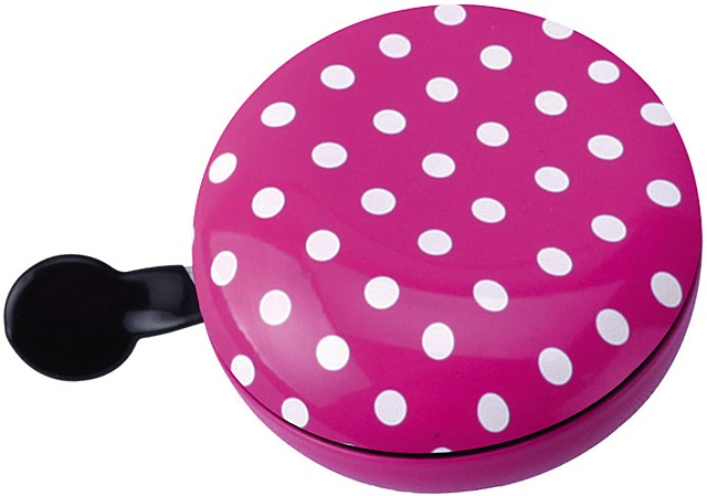 Brave Fietsbel Ding Dong Dots Ø80mm Staal - Roze