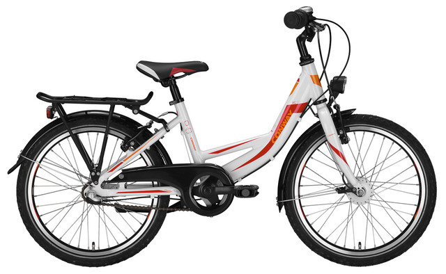 Conway ATB AC 130-270 Meisjes 24 Inch 36cm 7V Wit/Rood