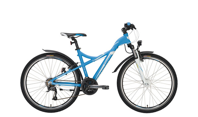Conway MTB MC 400 Sporty 26 Inch 43cm 21V - Mat Blauw/Wit