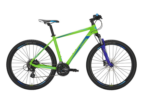 Conway MTB MS 427 27 Inch 44cm 24V - Mat Lime/Blauw