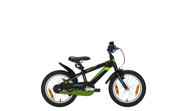 Conway MTB MS16 Diamant 16 Inch 23cm Zwart/Lime