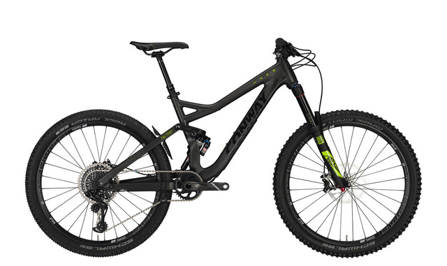 Conway WME 1027 Carbon Heren 27.5 44cm 12V - Carbon/Geel