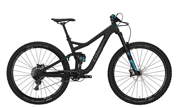 Conway WME 829 Carbon Heren 29er 47cm 11V - Carbon/Blauw