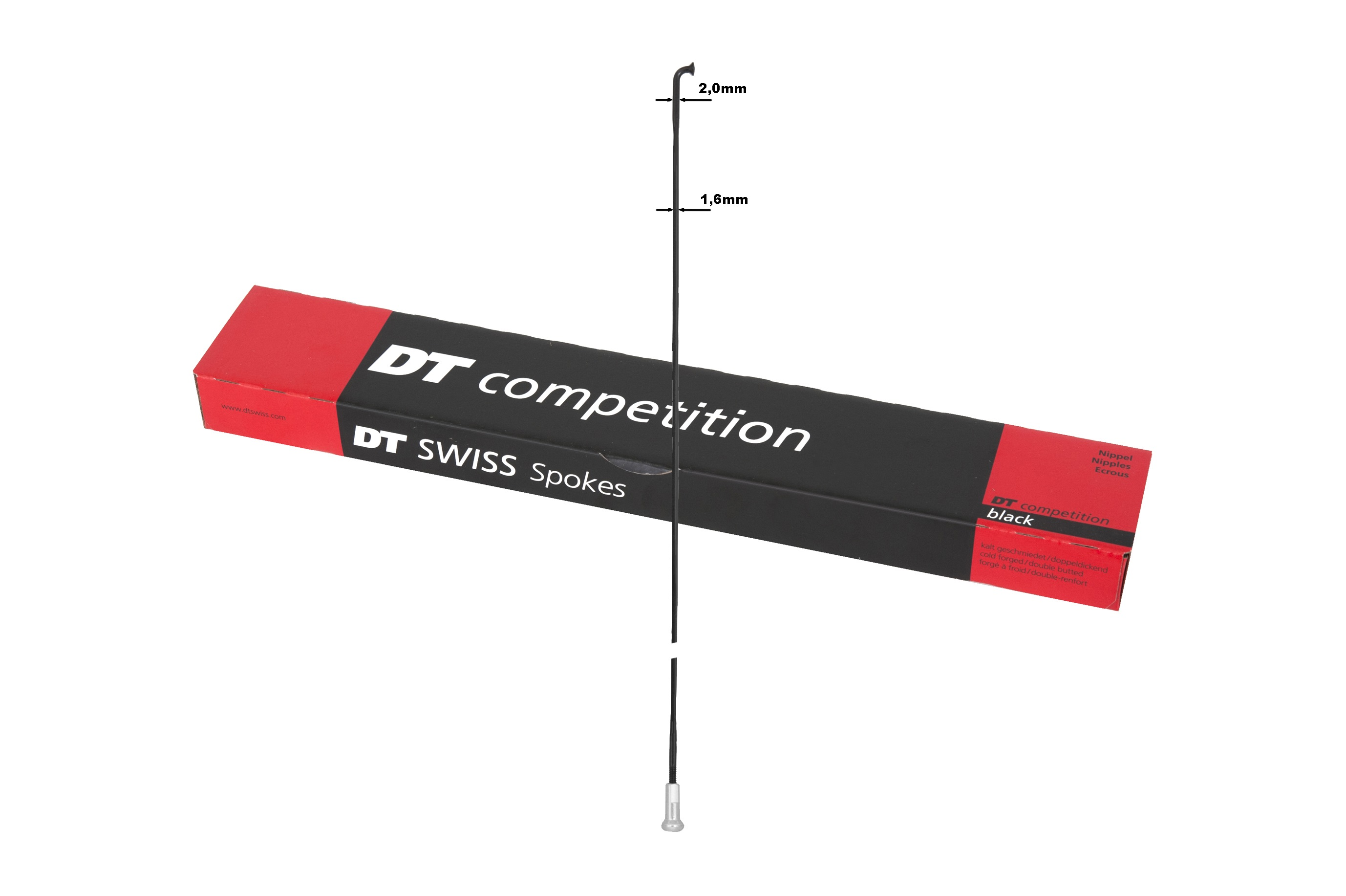 DT Swiss DT Competition Race J-Vorm 290mm - Zwart (72)