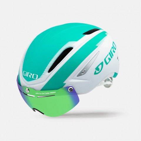Giro Fietshelm Air Attack Mat Wit/Turquoise - S 51-55cm