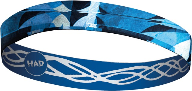 H.A.D. Hoofdband Flexband Blauw/Wit - One Size