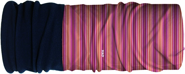 H.A.D. Multifunctie doek Kids Fleece - Stripe Red/Orange