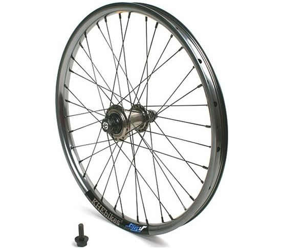 KHE Achterwiel Greyhound Freecoaster Big-V 10mm Flat Grijs