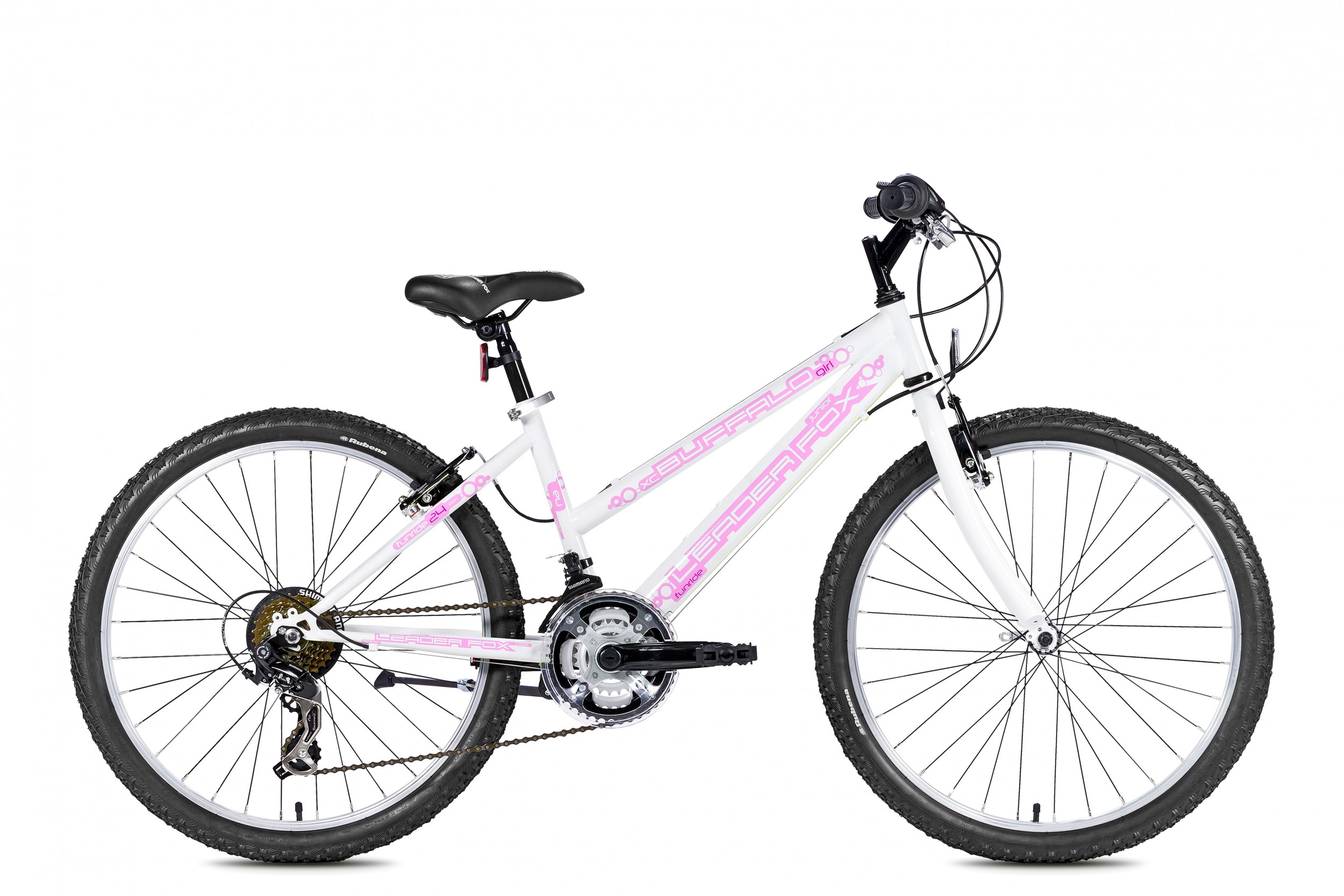 Leader Fox Buffalo Meisjesfiets 24 Inch 35cm 18V - Wit