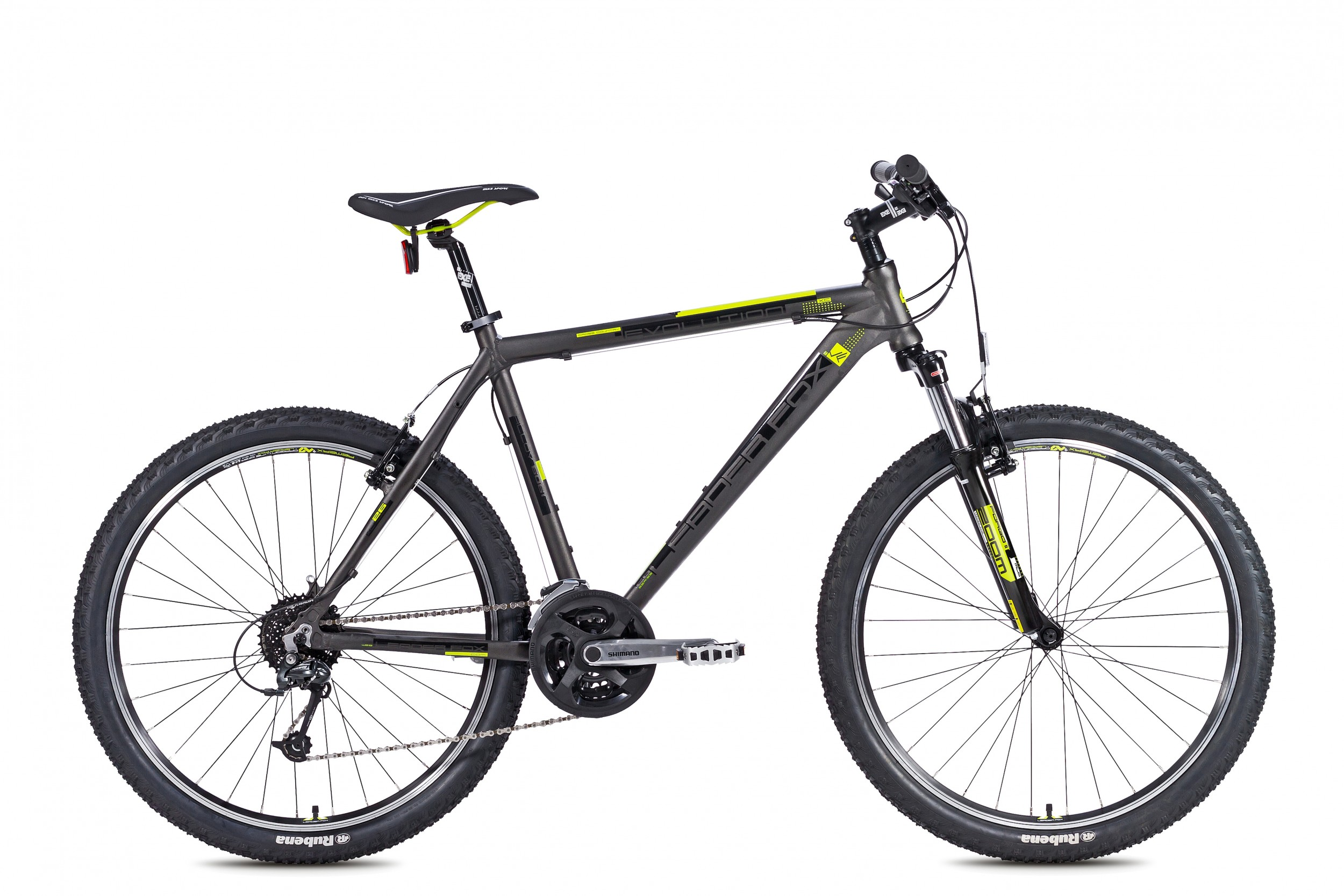 Leader Fox Evolution MTB 26 Inch 46cm 24V - Mat Grijs