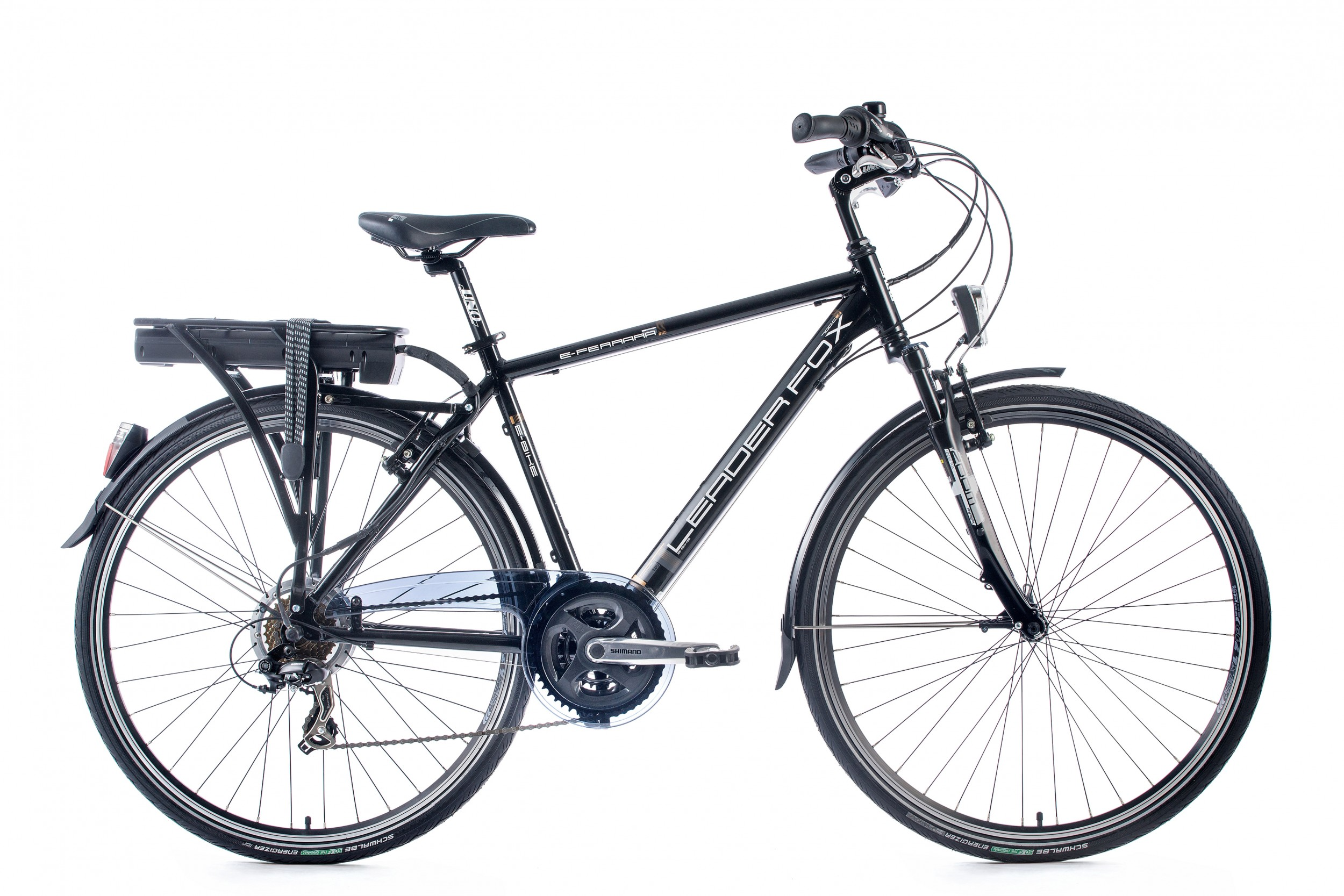 LeaderFox Ferrara E-bike Heren 48cm 21V - Zwart/Wit