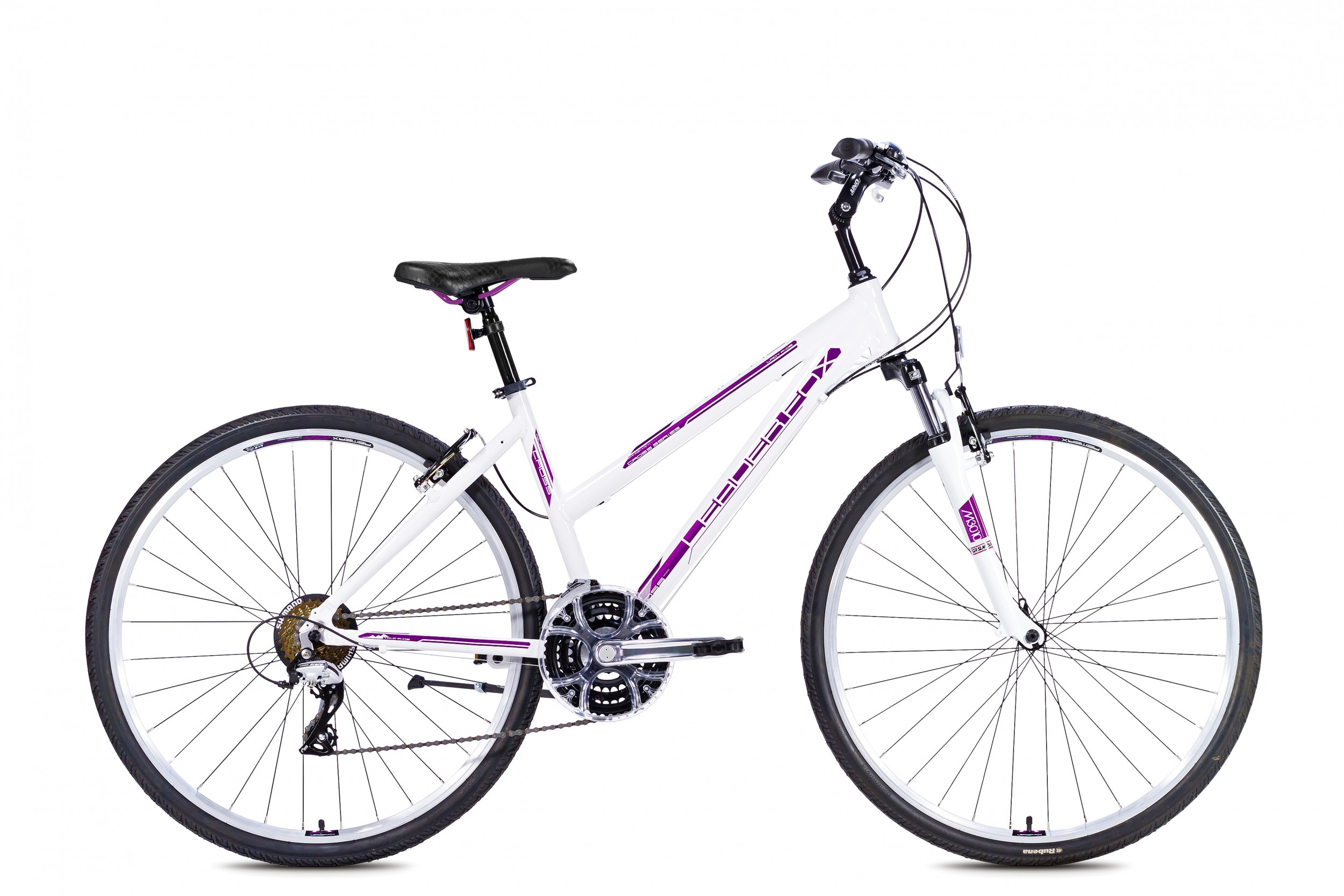 LeaderFox Viatic Fitnessbike Dames 43cm 21V - Wit