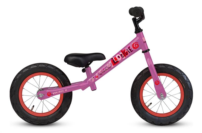Loekie Loopfiets Walking 12,5 Inch Roze