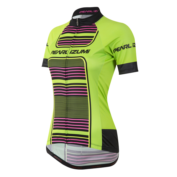 Pearl Izumi Elite Pursuit LTD Shirt KM Dames Maat M - Groen