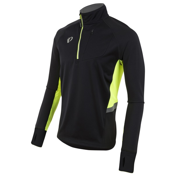 Pearl Izumi Pursuit Thermal Fietsshirt Zwart/Geel - XL