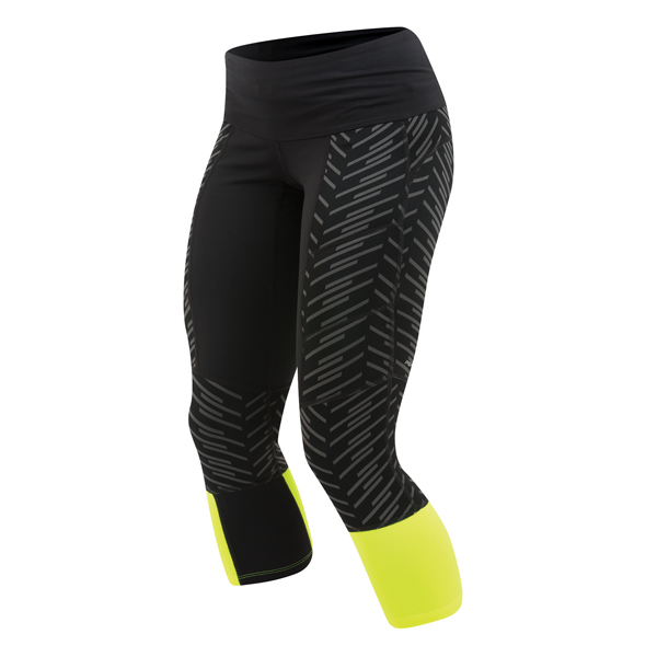 Pearl Izumi Running Broek 3/4 Flash Thermal Zwart/Geel - S