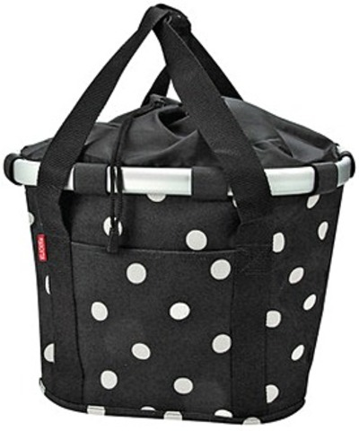 Rixen & Kaul Shoppertas Bikebasket - Black Dots