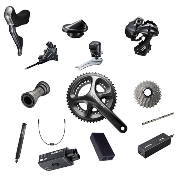 Shimano Dura Ace Di2 Groepset 11V 50/34T 12-25T 172.5mm - Zw