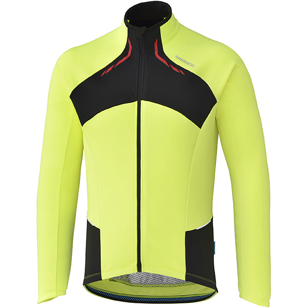 Shimano Shirt Thermal Winter LM Geel - Maat S