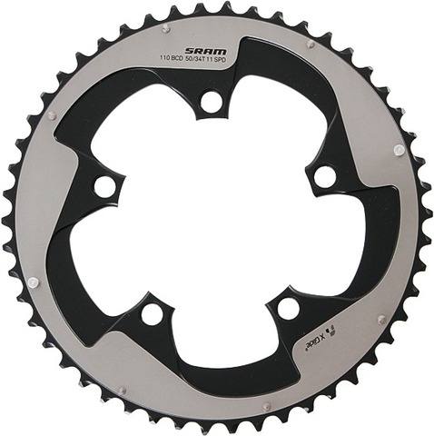 Sram Kettingblad Road Double 55T Steek 130mm - Zwart