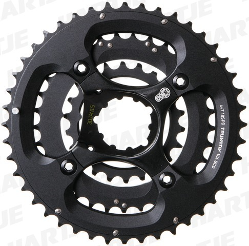 Sram X9 BB30 Spider 3x10 Speed Incl.Kettingbladen 44-33-22T