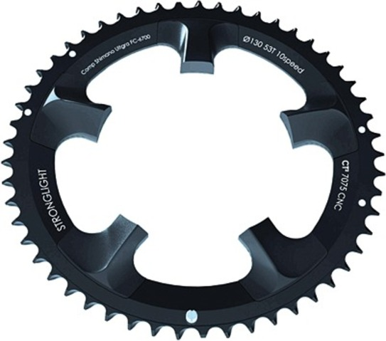 Stronglight Kettingblad CT2 53 Tands Campagnolo Zwart
