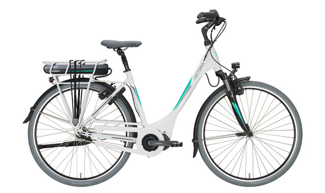 Victoria E-Bike e Holland 7.4 Dames 54cm 7V Wit/Turquoise