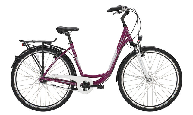 Victoria Urban 1.7 Damesfiets 28 Inch 55cm 3V - Rood/Wit